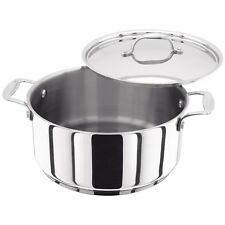Stellar 7000 Casserole 24cm Stainless Steel Induction Dishwasher & Oven Safe