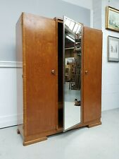 French Mid Century Three Door Large Wardrobe / Cupboard