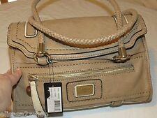 Guess talina stone VG332105 purse handbag tote satchel braided handle flap taupe