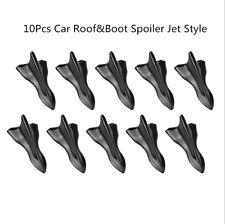 Black Vortex Generator Diffuser Shark Fin Car Roof Spoiler 10pcs PP for Honda