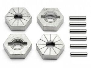 HPI 86804 Hex Wheel Hub 17mm (Silver/4 pcs) Savage Flux/XL/4.6