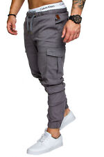 Herren Cargo Jogger Chino Stretch Hose Jeans Sweatpants Sweathose 7001