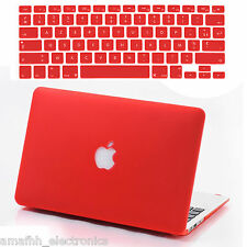 "Red Hard Cover + Silicon Keyboard Skin + Screen Guard For Macbook Air 13.3 "" 13"