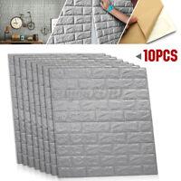10Pcs 70x77cm 3D Waterproof Tile Brick Wall Sticker Self Adhesive Foam Panel v