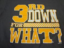 TENNESSEE VOLS Football 3rd DOWN FOR WHAT? Smokey Gray T-Shirt Medium  Z7
