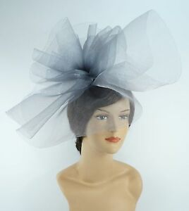 New Church Derby Wedding Fascinator Dress Hat with Headband FS-02 Gray