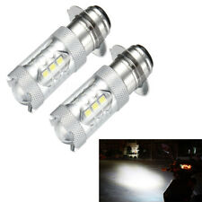 2x H6 LED HeadLight Bulbs White Light For Yamaha YFZ450R Rhino 700 Raptor YFM660