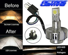 6500k H4 CREE SMD COB 360° LED White Motorcycle Headlight HID Hi/Low Light Bulb