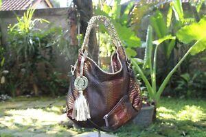 Women's Python Hand Bag Floy Luna - Bronze Gradation