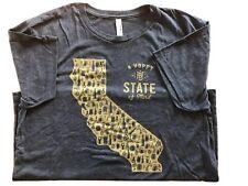 Hbhl Hoppy Beer Hoppy Life Craft Beer/Brewery San Diego Ca T Shirt Mens Xl Grey