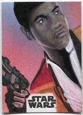 2017 Topps Star Wars The Last Jedi Kevin Hawkins Sketch Finn