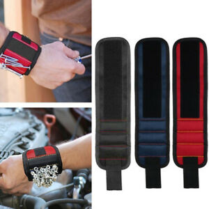 Magnetic Wrist Band Wristband Tool Tray Belt Wrist Magnetic Holding Helper UK L