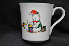 Rare Anchor Hocking Holiday Memories Christmas Cup Mug Bear Drum C8400/115