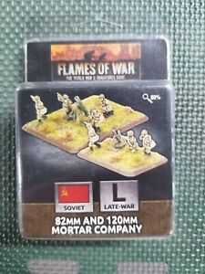 Flames of War Soviet 82 And 120mm Mortar Company NEW