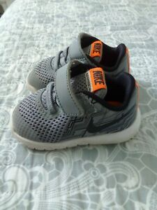 Nike infant grey trainers size uk 3.5. Eur 19.5