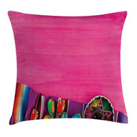 Mexican Decor Throw Pillow Case Tribal Folkloric Square Cushion Cover 20 Inches