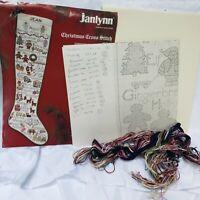 Janlynn Christmas Stocking  Cross Stitch Kit Christmas ABC'S Stocking 97789 OPEN