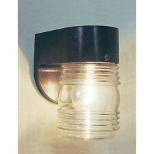 Volume Lighting 1-Light Black Outdoor Wall Sconce, Black - V9722-5