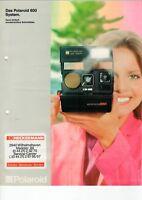 Polaroid - Das Polaroid 600 System - Prospekt Broschüre Werbung - B9502