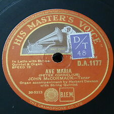 78rpm JOHN McCORMACK ave maria / the prayer perfect