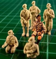Milicast FIG018 1/76 Resin WWII British AFV Crew-Tropical Dress-6 Figs+Opt-Heads