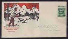 1920s Firearms Advertising Cover - National Sportsman - Boston Precanceled 581