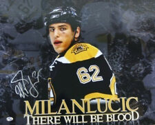 Milan Lucic Boston Bruins Signed 16x20 Photo Blood