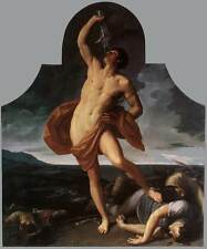 Huge Oil painting Salome Guido Reni - The Triumph of Samson - Nude strong man