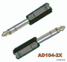 "Pair 1/8"" Female Stereo to 1/4"" Male Stereo Adapters ( AD104-2X )"