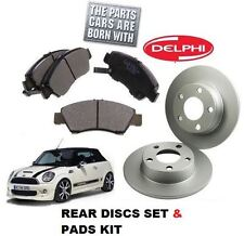 PER BMW MINI ONE COOPER S 03-06 1.4D 1.6 SET DISCHI FRENI POSTERIORI &