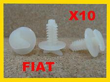 10 Fiat door card fascia trim panel cover fastener clips bump scratch strip