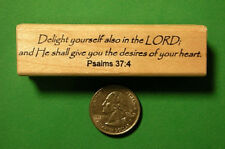"Religious Stamp, ""Delight yourself in the LORD. . ."""