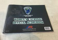 "A&R Mll Lacrose Womens Official Scorebook for 24 Games & 30 Players 8"" x 11"""