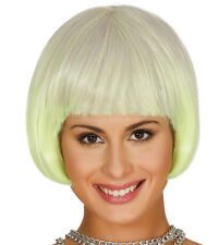 Yellow Ombre Bob Wig Synthetic With Fringe Sci-Fi Cosplay Hair High Quality