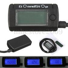 Voltmeter Tachometer Hour Meter Max RPM LCD Digital Display Motorcycle Go Kart