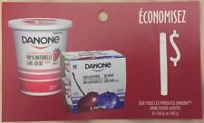 Lot of 10 x 1.00$ Danone Products Coupons Canada