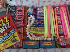 65 Piece Retro Sweet Hamper,happy Birthday Gift, Treat,Present With Tissue Paper