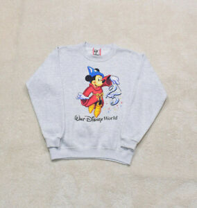 Womens Vintage 90s Disney Grey Print Sweater Size Small