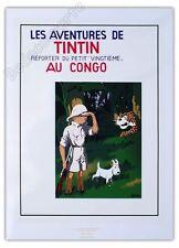 Affiche Sérigraphie Tintin au Congo 60x80 cm