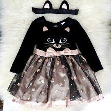 Baby Girl Black Cat Halloween Costume 6-9 Months Fancy Dress