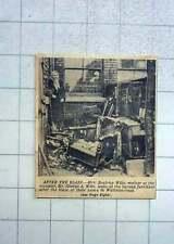 1951 Mrs Beatrice Wills Surveying Burned Furniture Waterloo Road Blackpool