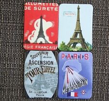 4 France Magnets New 1-5/8 x 2-1/4 Flag Eiffle Tower Tour Paris Souvenir Travel
