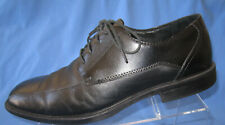 Claiborne Men's Bicycle Toe Lace Up Shoes Black Leather Size 11 MED