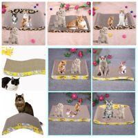Pet Cat Kitty Corrugated Scratch Board Pad Scratcher Bed Mat Claws Care Toy Fun