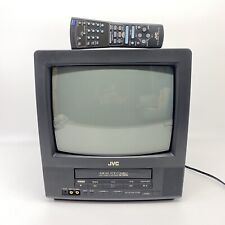 """JVC 13"""" CRT TV TV-13140 VCR VHS Combo Retro Gaming Television Tested w/ Remote"""