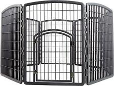 "34"" 8 Panels Dog Cage Outdoor Playpen Pet Cat Fence HEAVY DUTY Exercise Kennel"