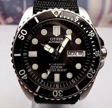 RELOJ  CITIZEN  AUTOMATICO 200 MM WATER RESIST CABALLERO DOBLE CORREAS watch