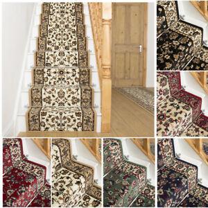 runrug Long Stair Carpet Runner Heavy Duty Washable Bordered Traditional