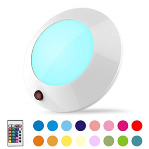 BIGLIGHT Battery Operated LED Ceiling Light Indoor Outdoor, Color Changing Light
