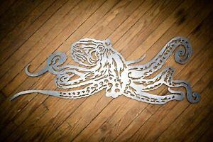 "41"" Decorative Octopus Metal Wall Art Hanging Home Decor Sea Life Sculpture"